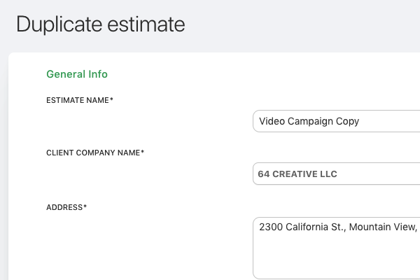 Duplicate-estimate
