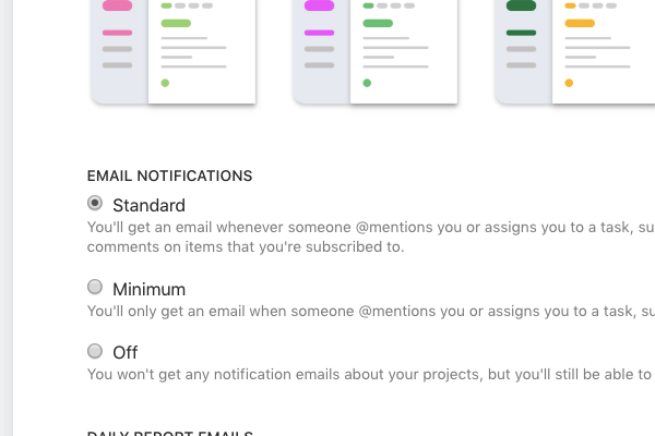 Email-notification-settings