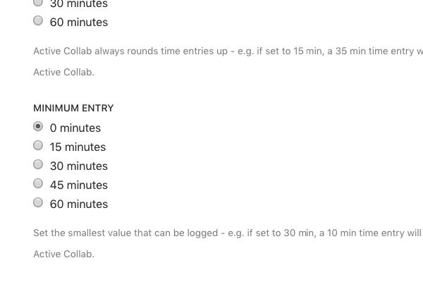 Minimum-time-entry