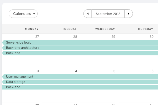 Projects-in-calendar