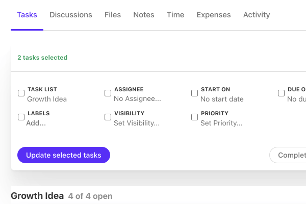 edit multiple tasks all at once