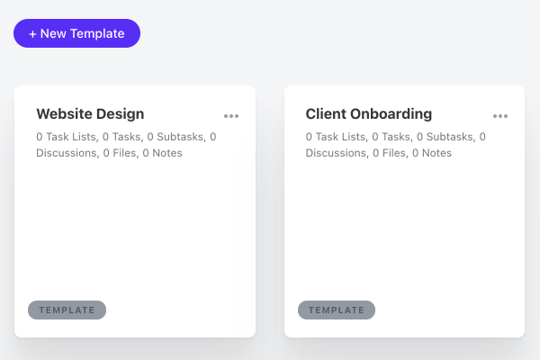 creating project template.
