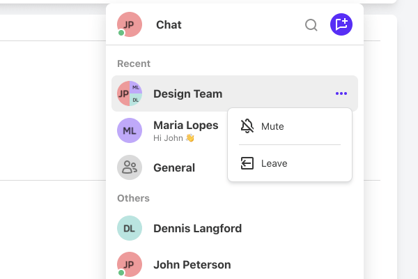 creating custom groups in chat.