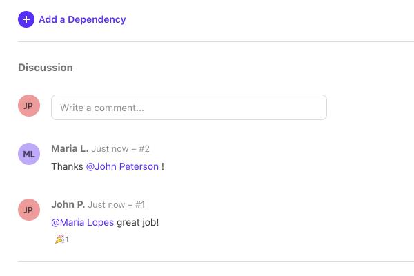 comments collaborate clients