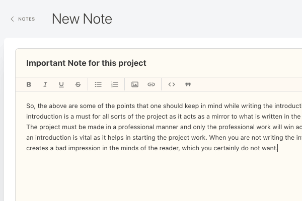 notes collaborate clients