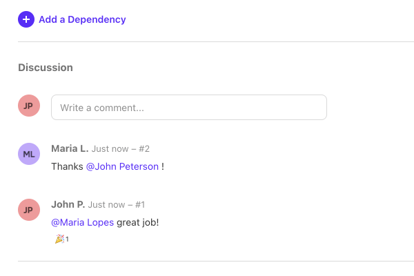 mentions in comments.