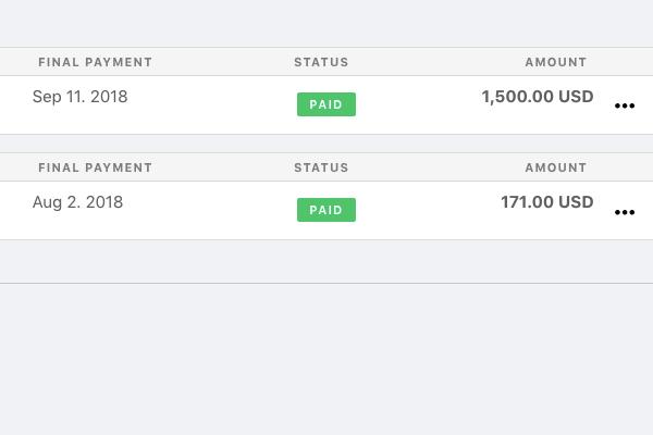 client company invoice