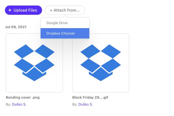 dropbox file sharing integration