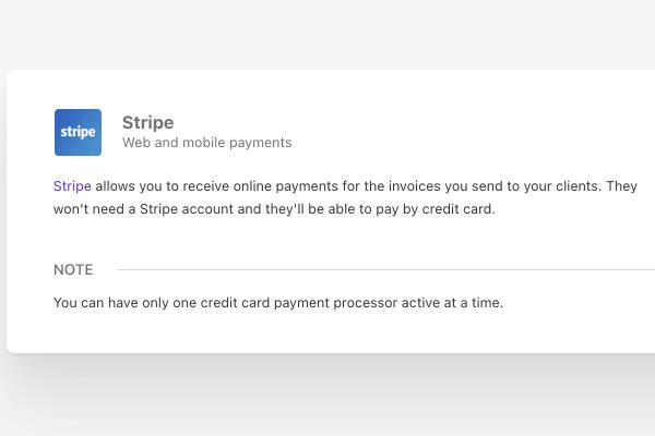 paypal stripe integration invoice client