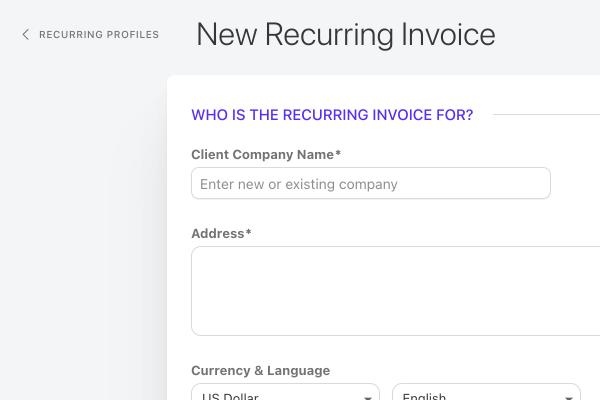 recurring invoice client