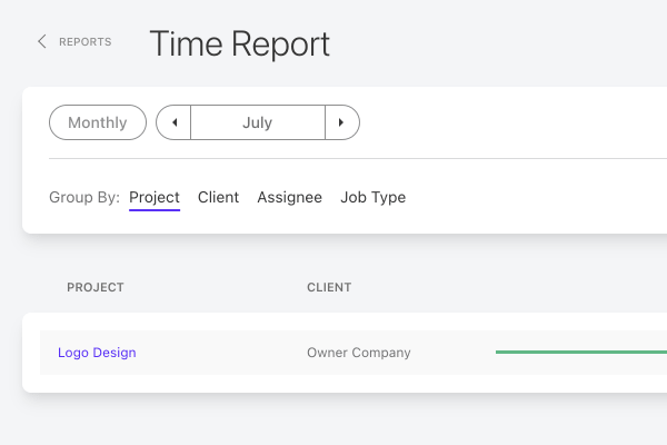 time report filter