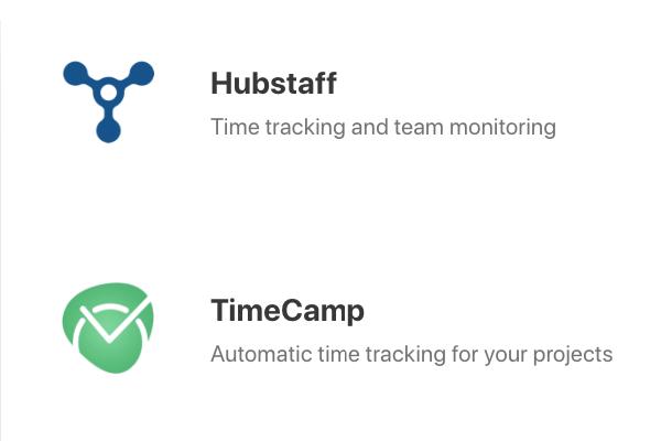hubstaff timecamp integration time tracking