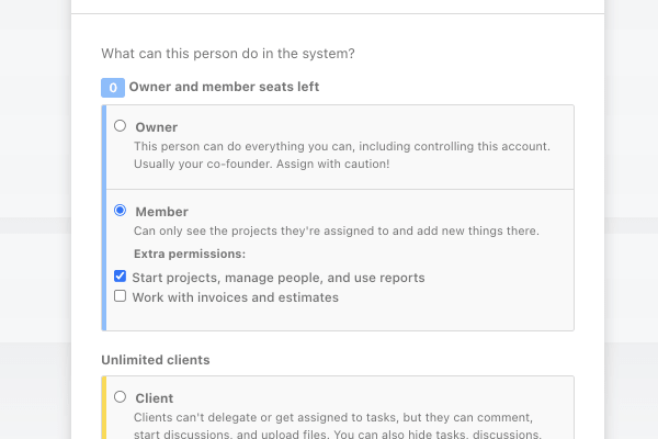 member+ user role in ActiveCollab.