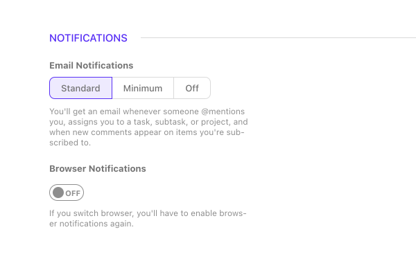 ActiveCollab notifications.