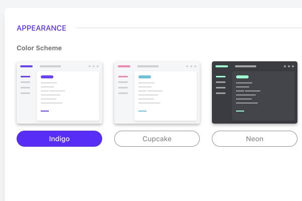 changing interface theme.